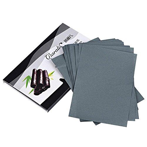 80 pcs/paquet Papier de contrôle d'huile, film de contrôle d'huile, tissus absorbant l'huile Papier de contrôle d'huile absorbant l'huile pour le nettoyage(Hommes de charbon de bambou)