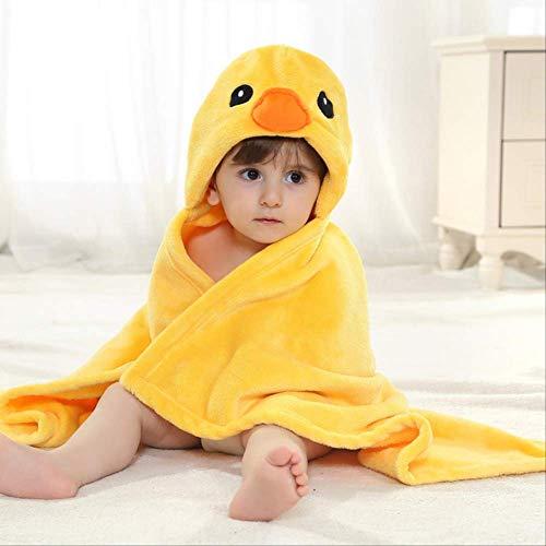 Neonato Asciugamano Con Cappuccio Bambini Baby Spa Asciugamano per il Bagno Bambino Coperta Velluto Bambino Bebe Accappatoio Bambino Cappa Da Bagno Asciugamani Spiaggia 100 * 100 cm giallo pulcino