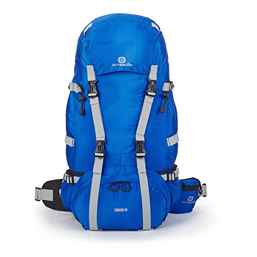 Outbound Canyon 45L Internal Frame Backpack with Ripstop Fabric (Blue)