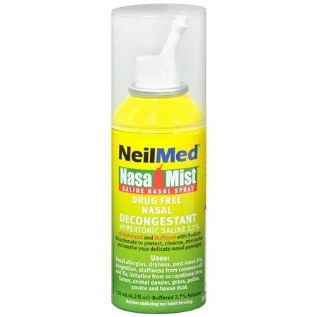 NeilMed Extra Strength NasaMist Saline Nasal Spray Drug Free Nasal Decongestant - 3PC