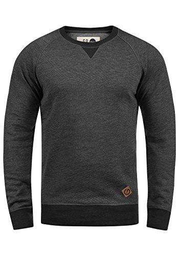 !Solid VituNeck Herren Sweatshirt Pullover Pulli Mit Rundhalsausschnitt, Größe:L, Farbe:Med Grey (8254)