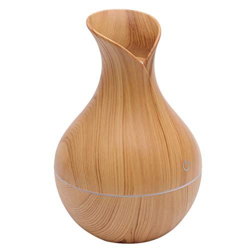 Garneck Auto Luftbefeuchter Japanische Stil Vase Mini USB Nebel Aroma Diffusor Lufterfrischer Geräuscharme Befeuchter Desktop-Dekoration für Wohnheim Spa (Leichte Holzmaserung)
