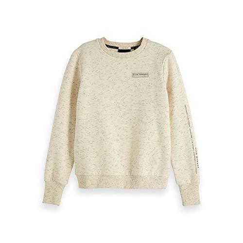 Scotch & Soda Maison Damen Meliert Rundhalsausschnitt Sweatshirt, Beige (Ecru Melange 0171), Medium (Herstellergröße: M)