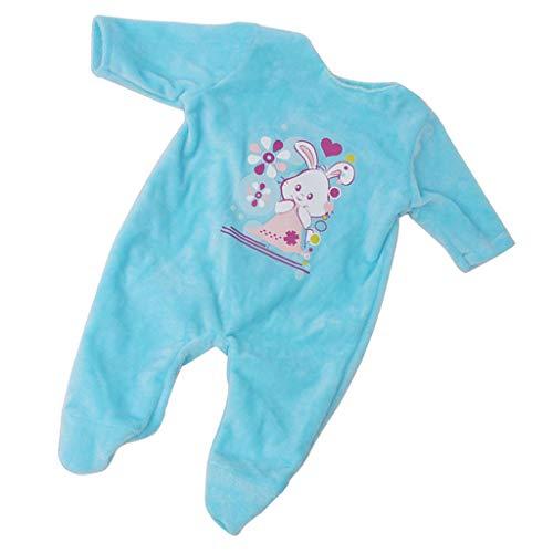 P Prettyia 1 Stück Puppenkleidung Strampler Overall Outfit Für 18 Zoll amerikanisches Mädchen Puppe - E