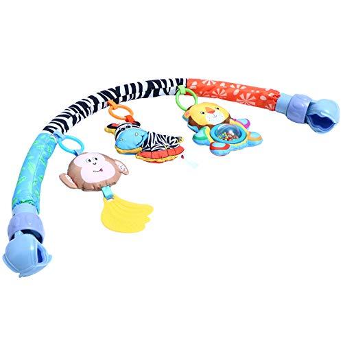 Toddmomy Cochecito de Juguete Colgante para Bebé Juego de Arco Cochecito de Cuna Cochecito de Actividad Silla de Paseo Clip Sonajero Juguete para El Desarrollo de Los Sentidos Y Las