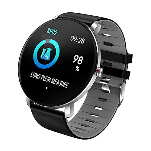 XYG Reloj inteligente 1 pantalla de 3 pulgadas rastreador de fitness deportivo podómetro pulsera mensaje push recordatorio inteligente Ip68 impermeable 180 mAh (color: F) (C)