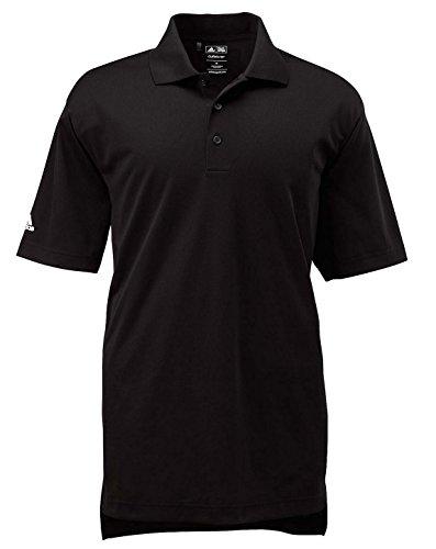 adidas Golf Mens Climalite Basic Short-Sleeve Polo (A130) -Black/Whit -4XL