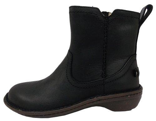 UGG Australia Women's Neevah Leather Boots,Black Leather,US 5 US