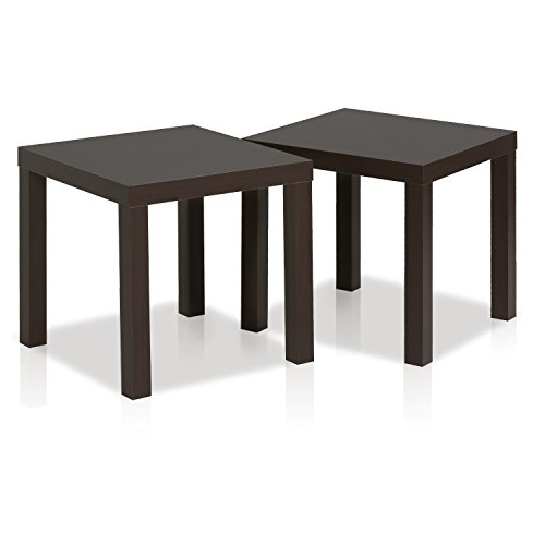 Furinno End Tables, Fabric, Espresso, one size