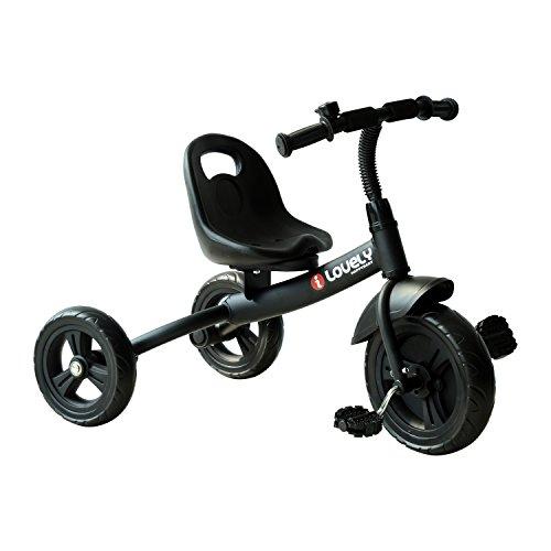 HOMCOM Baby Kids Children Toddler Tricycle Ride on 3 Wheels Bike (Black)