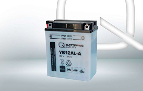 Q-Batteries Motorrad-Batterie YB12AL-A 51213 12V 12Ah 165A