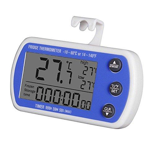 Unigear - Termometro digitale per frigorifero, freezer e frigorifero, impermeabile *1 Blu