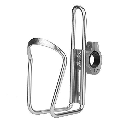 MMLC Fahrradflaschenhalter Robuster Fahrrad Trinkflaschenhalter aus Aluminium (Silver -1)