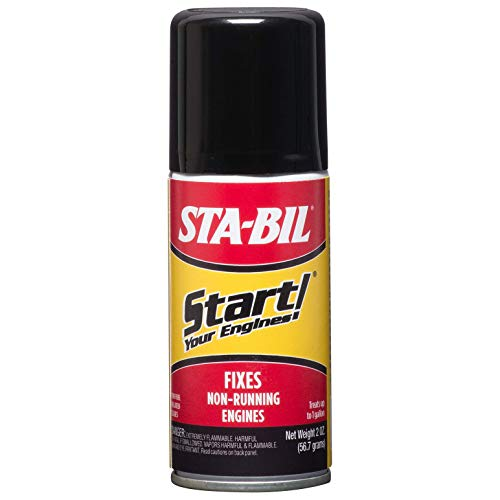 STA-BIL Start Your Engines! - Fixes Non-Running Engines - A Jump Start In A Can - Revitalizes Fuel System - Safe For 2 And 4-Cycle Engines - Ensures Quick, Easy Starts, 2 fl. oz. (21214)