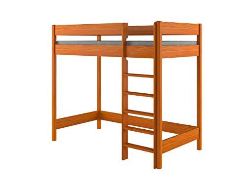 Hubi Loft Bunk Bed front enter (180x90x160, Tic)