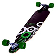 Ultra-low-riding longboard ensures maximum stability, making it ideal for downhill carving Ease of pushing takes wear and tear out of around-town commutes, as well Unique perimeter shape gives 9.6-inches of leverage into every turn, while also elimin...