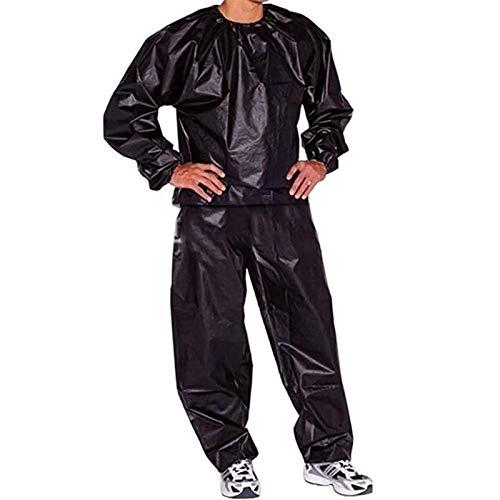 PVC-Saunaanzug zum Schwitzen Abnehmen Fördert Das Schwitzen Schweißanzug Sudorina (Color : Black, Size : L)