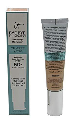 it Bye Bye Foundation Moisturizer Oil-Free Matte SPF 50+ 1 fl. oz. (Medium)