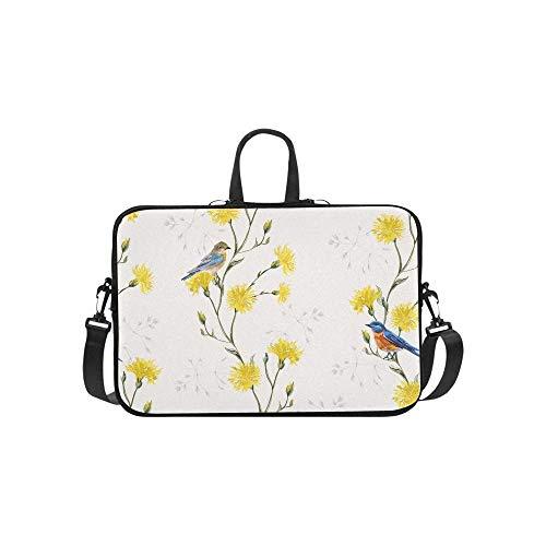 15.6″Durable Hombro Mensajero Bolsa maletín PC Prado Floral botánico Moda Impermeable Ordenador Portátil/portátil/Tablets