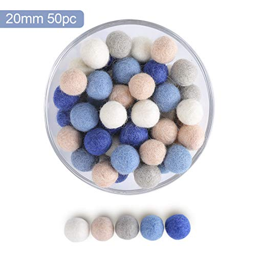 let's make 100% Wollfilz Bälle 50pc Hand Gefilzt Pom Poms für die Dekoration DIY und Kreatives Handwerk