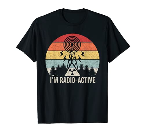 Retro I'm Radio-Active - Camisa con antena para radio de jamón Camiseta