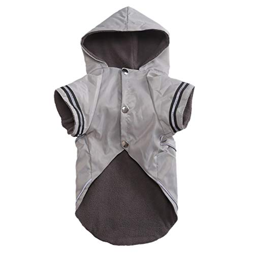 Etophigh Hundekapuze-Regenmantel Winddicht Wasserdicht Leichter Knopf Hundemantel Jacke für Kleine mittelgroße Hunde Haustier Hund Outdoor-Bekleidung Bekleidung