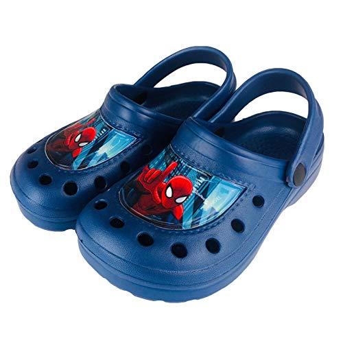 Zapatillas Marvel Spiderman para niño con diseño de zócalos Clog 2771 Azul...