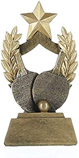 Decade Awards Ping Pong Wreath Trophy - Table Tennis Award - 6.5 Inch Tall - Engraved Plate on Request