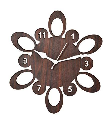 Treecase Mdf Wall Clock (Brown_25 X 25 X 2.8 Cm)