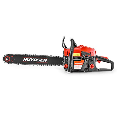 Gas Power Chain Saws Corded 54.6 CC 2 Cycle Gas Powered Chainsaw Guide Bar Size 20 inchs 0.325 inchs 76DL Chain Guide Bar