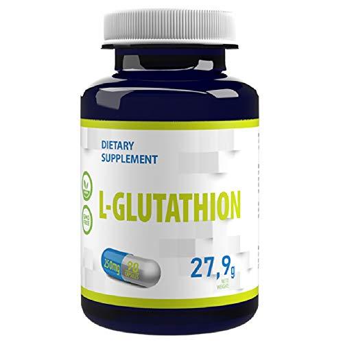 L-Glutathion (Reduziert) 250mg 90 Vegan Kapseln, Hochdosiert Antioxidantien