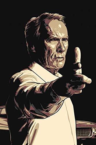 WOAIC Gran Torino (2008) Movie Pósteres For Bar Cafe Home Decor Painting Wall Sticker Frameless 24X36 Inch(60X90CM)