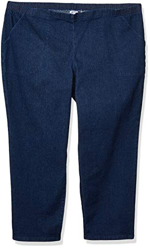 JUST MY SIZE Women's Apparel Women's Plus Size Stretch Pull On Jean, Indigo, 2X Petite