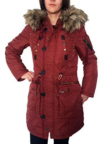 khujo Halle Damen Parka Winterjacke Jacke in Rusty rot red (M)