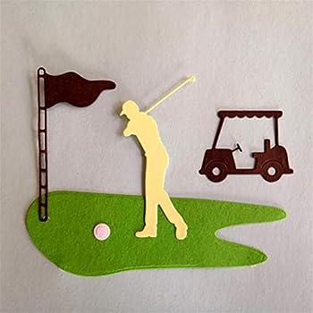 DHmart Golf Course Design Metal Cutting Dies Stencils Christmas Cards Craft Metal Dies Scrapbooking Photo Album DIY Decorative