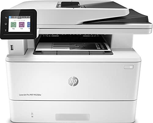 HP LaserJet Pro MFP M428dw W1A28A, Impresora Láser Multifunción, Imprime, Escanea y Copia, Wi-Fi, Ethernet, USB 2.0, 1 Host USB, 1 Puerto USB, HP Smart App, Mopria, Pantalla Táctil a Color, Blanca