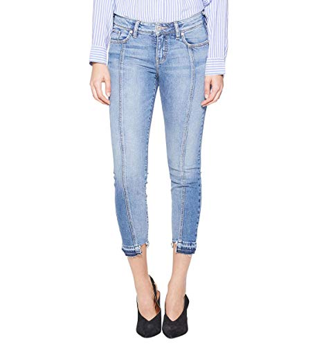 Silver Jeans Co. Women's Aiko Mid Rise Front Seam Skinny, medium Indigo, 25x25