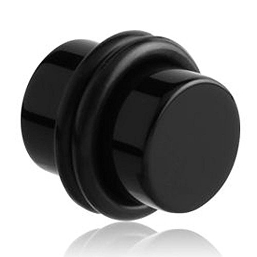 Acryl-Kabelstecker - Schwarz 8mm