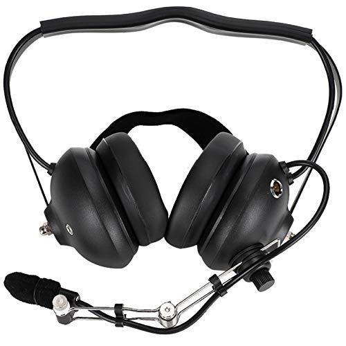 Mxzzand Kopfhörer Headset em56 Noise Reflection Cup MC 2,5-mm-Audio-Lautsprecher, helfen Sie, Spannungen abzubauen(Black)