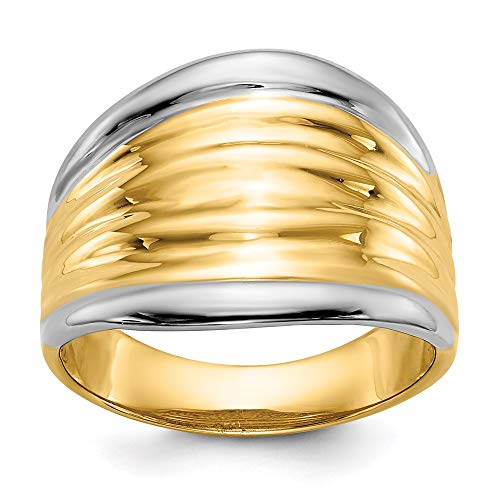 14k Yellow Gold Dome Band Ring Size 7.00 Fine Jewellery For Women Gifts For Her