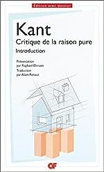 Critique de la raison pure (Philosophie t. 1581) d'Emmanuel Kant
