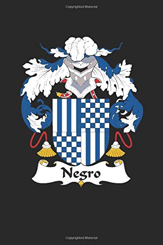 Negro: Negro Coat of Arms and Family Crest Notebook Journal (6 x 9 - 100 pages)