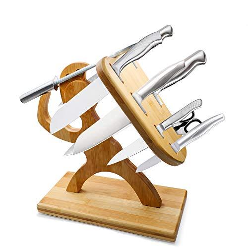 Messerblock Krieger Messerhalter Holz, Holzblock, Kitchen aid küchenhelfer, 30,5x30,5x15cm