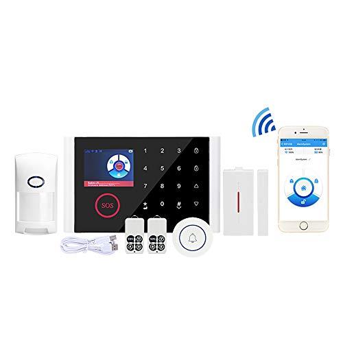 Bostar sistema de alarma Multi-network idioma inalámbrico WIFI+GSM+GPRS sensor antirrobo para hogar oficina host inalámbrico timbre (1#)
