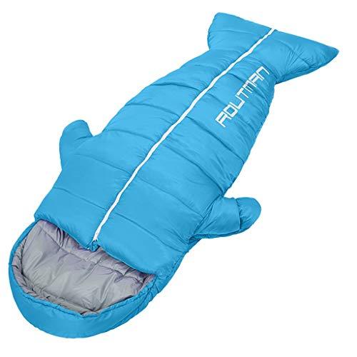CATRP-Sac de couchage pour Adulte Voyage en Plein Air Épaissir Camping Intérieur Protection Contre Le Froid, 3 Couleurs, 3 Types De Poids (Color : Blue, Size : 2.15kg)