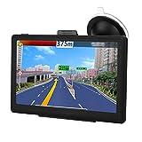 GPS para automóvil de 7 pulgadas, navegación por voz GPS, 256 MB de RAM - Sistema de navegación capacitiva de 8 GB de RAM, con pantalla HD, fácil de usar, 30 idiomas intercambiables, mapa de actualiza