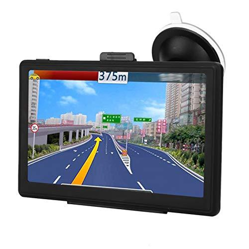 Navegador portátil GPS para coche, pantalla táctil capacitiva, navegación por voz real, compatible con funciones multimedia