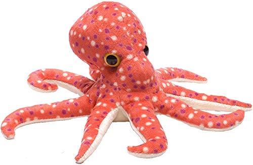 Wild Republic Hug 'ems Plüschtier, Kuscheltier, Oktopus, Tintenfisch 18 Cm