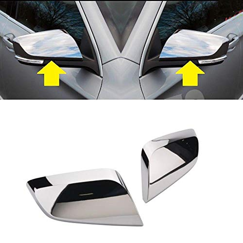 Overun 3-Layers Shiny Chrome Plated Parts Accessories Top Half Side Mirror Cover Designed for 2014-2020 Chevrolet Impala