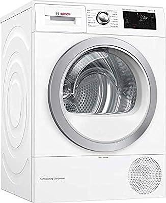 Bosch WTWH7660GB Serie 6 Freestanding Heat Pump Tumble Dryer, 9kg load, White